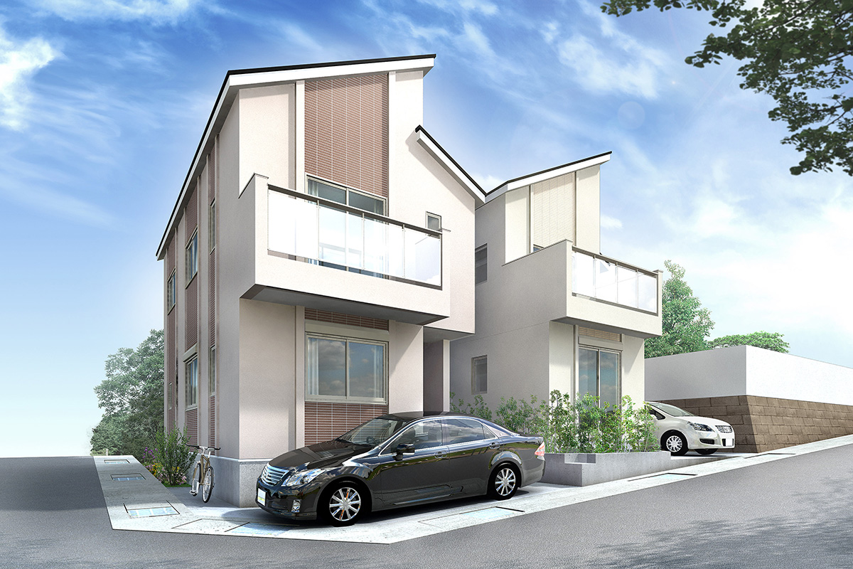 HO-07 | 2棟住宅パース