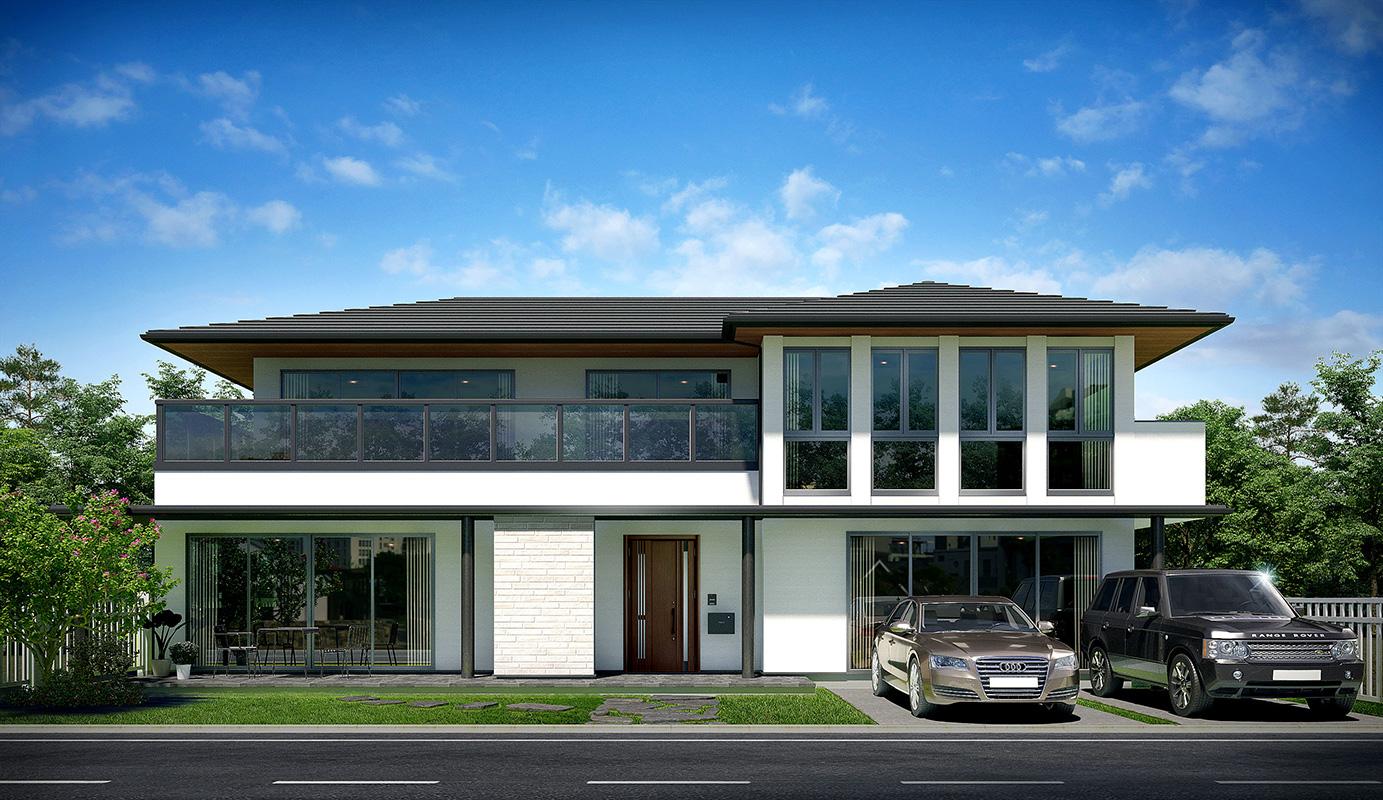 HQ-33 |戸建て住宅パース